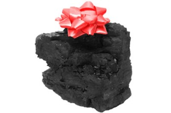 lump of coal ribbon
